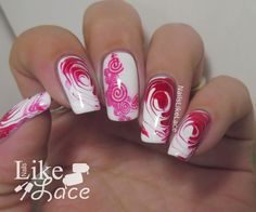 NailsLikeLace: Peppermint Swirl Nails