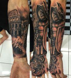 Roman Gladiators Tattoos For Men