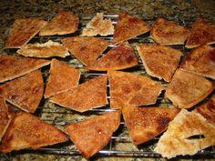 Cinnamon Sugar Pita Chips - I already make something similar with pita bread, garlic powder and parmesean cheese but this would be good when craving something sweet