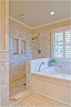Master Bathroom Ideas – Just like your master bedroom, you need to make the best of your master bathroom as well. Regardless of your style and taste, this space is surely a perfect spot for you to add elegance to your overall home. Here are 15 gorgeous ma Bathroom Renos, Bathroom Renovations, Bathroom Interior, Modern Bathroom, Small Bathroom, Home Remodeling, Bathroom Ideas, Master Bathtub Ideas, Master Bathroom Plans