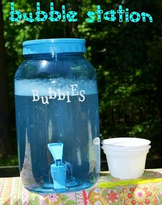 "Kids birthday party idea... or anytime... bubble ""refill"" station!"