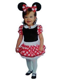 Minnie Mouse Disney Halloween Costume Size 12-18 Months Dress & Headband w/ Ears #Disney #DressHeadbandwithMouseEars