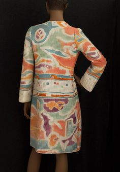Designer Clothing at Vintage Textile: #7244 Mary McFadden quilted coat