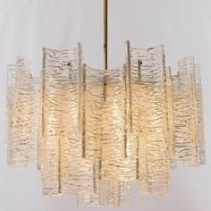 Large Kalmar Glass Chandelier, 1950s 6