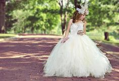 flower girl dress vintage flower girl tutu dress by alorasafari, $110.00