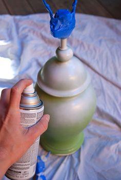Re-painting ceramic lamp