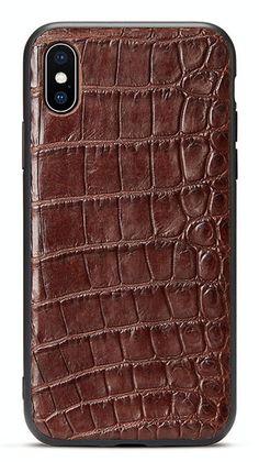 Best iPhone x case, luxury iPhone x case for men, iPhone X crocodile leather case