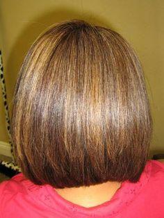 line haircut from behind   Hair