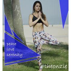 Peace, love and serenity #onzie #yoga #clothing #pilates #bikram #spinning #pole