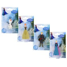 Kids will love recreating the story of Disney®'s Frozen™ with these adorable figurine sets! Elsa, Anna, Olaf, and Kristoff figurines are perfect for hours of make-believe fun. These figu Disney Cars, Disney Frozen, Disney Pixar, Disney Gift, Frozen Birthday Party, Frozen Party, Dollar Tree Store, Goodie Bags, Stocking Stuffers