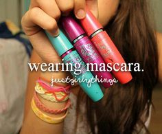Omgggggg I love mascara but my friends say I shouldn't wear any when I put it on they say that it looks fake