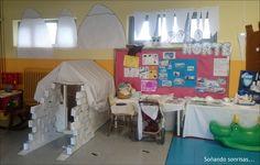 Los Inuits cuando salen a cazar y a pescar tienen que construirse un iglú para protegerse del frío del Polo Norte.  En nuestro Rincón del ju...