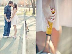 Tennis engagement photos?! Glass Jar Photography.