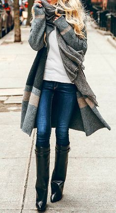 Love this sweater cost. Tan, grey, charcoal. Great for everyday!