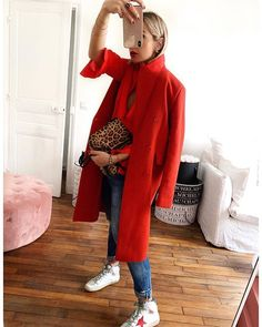 New sneakers fashion winter rouge ideas Red Sneakers Outfit, Flat Shoes Outfit, Sneakers Fashion, Sneaker Outfits, Casual Summer Outfits, Fall Winter Outfits, Winter Fashion, Winter Clothes, Work Outfits