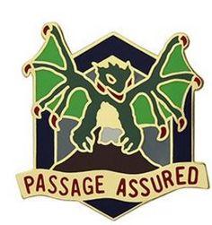 420th Chemical Battalion Unit Crest (Passage Assured)