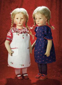 kruse doll antique | ... 161. German Blue-eyed Character by Kathe Kruse with Rare Stamped Date