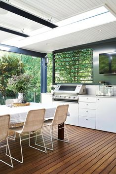 """Five outdoor living designs for big and large backyards with tips on revamping your outdoor space with decking, mosaic tiles, outdoor kitchens and more. #""""outdoorkitchendesigns"""""""