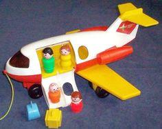 FisherPrice Toy 2391 Little People JETLINER by tedsfptoys on Etsy, $19.99