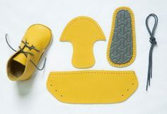 First Baby Shoes, a Polish company that sends you everything necassary for you to sew your baby's first pair of shoes.