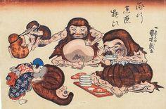 <流行達磨遊び : RYUKOU DARUMA ASOBI> KUNIYOSHI UTAGAWA 1798-1861 Last of Edo Period