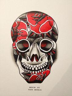 #skull #flowers