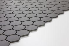 AQ Hexagon Porcelain Mosaic Dark Grey