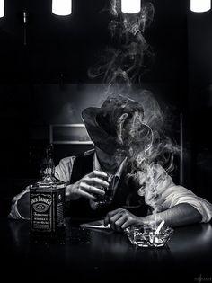 All things Jack Daniel's Film Noir Photography, Smoke Photography, Portrait Photography, Photography Ideas, Skull Wallpaper, Galaxy Wallpaper, Black White Photos, Black And White Photography, Smoke Art