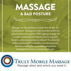 Need help with your posture visit us at www.trulymobilemassage.com and make a appointment today.