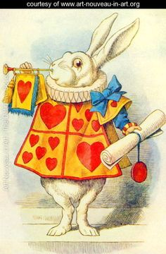 *WHITE RABBIT ~ illustration from Alice in Wonderland by Lewis Carroll 1832-9 - John Tenniel - www.art-nouveau-in-art.org