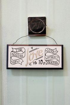 Measure of Love Mini Wall Sign