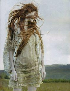 John Rocha AW06 handmade open-knit draped shrug in The Observer Magazine, October 2006 #press #editorial #fashion #luxury #style #archives #womenswear #handmade