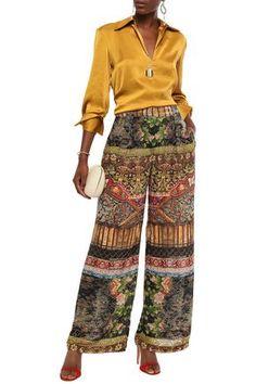 CAMILLA CAMILLA WOMAN DEVORÉ-VELVET WIDE-LEG PANTS MULTICOLOR. #camilla #cloth Camilla Clothing, Wide Leg Pants, World Of Fashion, Luxury Branding, Harem Pants, Your Style, Velvet, Legs, Woman