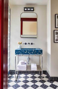 Detroit's impressive The Siren Hotel signals the next stage of the Motor City's culture-led renaissance. Detroit's impressive The Siren Hotel signals the next stage of the Motor City's culture-led renaissance. Interior Exterior, Home Interior, Bathroom Interior, Decor Interior Design, Modern Bathroom, Modern Vanity, Design Interiors, Bathroom Gray, Bathroom Furniture