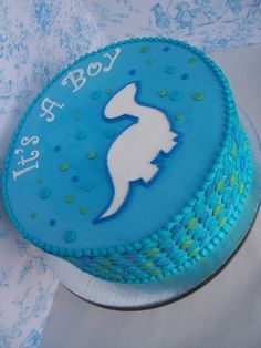 Dinosaur Baby Shower by Corrie76 on Cake Central