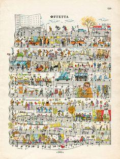 office romance Art Print by peopletoo - X-Small Sheet Music Art, Vintage Sheet Music, Vintage Sheets, Music Paper, Music Sheets, Art Romantique, Books Art, Romance Art, Colossal Art