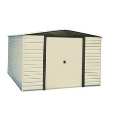 Vinyl-Coated Steel Storage Shed (Common: 10-ft x 12-ft; Interior Dimensions: 9.85-ft x 11.71-ft) $938.00 on 3/8/2016