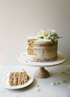 Hummingbird Layer Cake (traditional southern pecan, coconut, banana, and pineapple filled cake) Southern Desserts, Köstliche Desserts, Delicious Desserts, Plated Desserts, Food Cakes, Cupcake Cakes, Rose Cupcake, 6 Cake, Baking Recipes