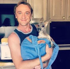 Tom Felton with Roo on August 3rd 2017