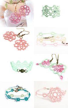 Handmade lace jewellery