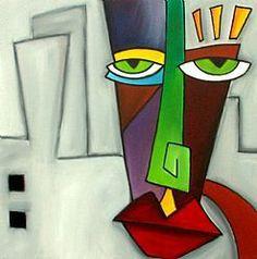Art: Faces 52 by Artist Thomas C. Fedro