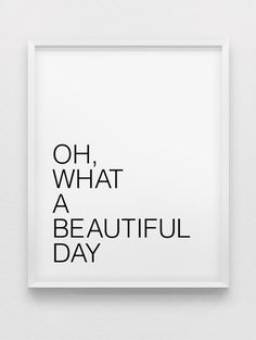 Oh was für ein schöner Tag drucken / / von spellandtell auf Etsy