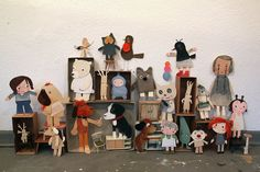 """my dearest stuff"" by virginhoney Fabric Dolls, Paper Dolls, Paper Art, Paper Crafts, Learn Art, Tiny Dolls, Cute Toys, Art Sketchbook, Love Art"
