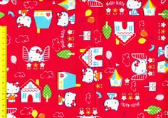 Hello Kitty fabric 1/2 yard $12.60