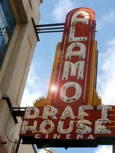 Alamo Draft House (West Oaks Mall or Mason Park) - Great place to watch movies, drink beer and fantastic food!
