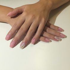 Make up nails, glitter