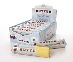 Butter Factory Myrtleford - cultured butter, salted and unsalted. Dairy Packaging, Cheese Packaging, Food Packaging Design, Pretty Packaging, Packaging Design Inspiration, Brand Packaging, Branding Design, Identity Branding, Product Packaging