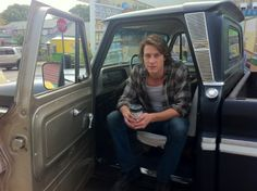 A special treat for a special day…a shot of The Best of Me's young Dawson (aka Luke Bracey) in his 65 Chevy between takes on set. REPIN to help us wish Luke a very HAPPY BIRTHDAY!