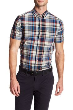 Regular Fit Madras Plaid Sport Shirt