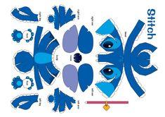 Stitch Disney Stitch, Lilo And Stitch, 3d Paper Crafts, Paper Toys, Stitch Coloring Pages, Stitch Ears, Stitch And Angel, Stitch Cartoon, Disney Printables